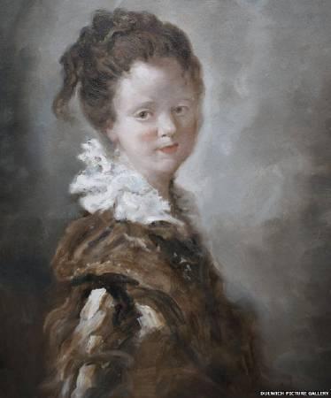 福拉戈納爾《年輕女子》複製品。圖/取自BBC。