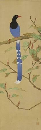 呂鐵州,《台灣藍鵲》,1942。