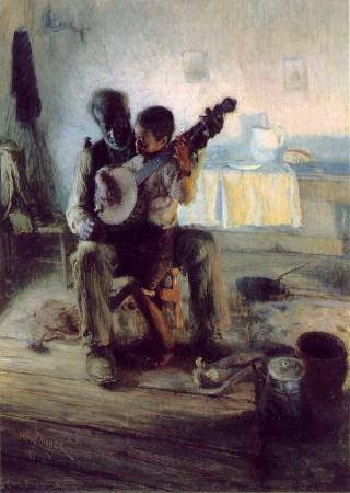 Henry Ossawa Tanner,《The Banjo Lesson》,1893。圖/取自wikiart