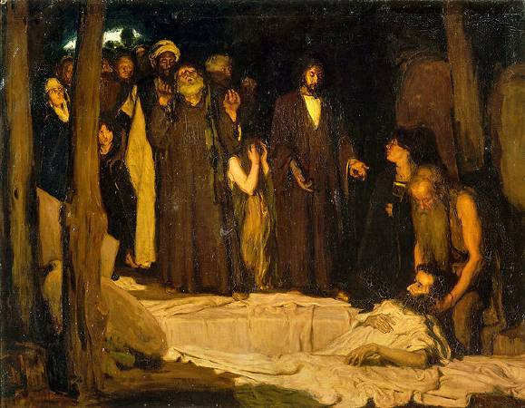 Henry Ossawa Tanner,《The Resurrection of Lazarus》,1896。圖/取自wikiart