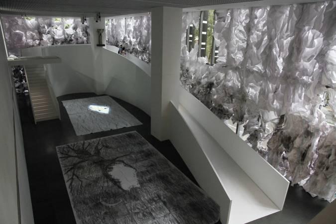 蔡明亮,《玄奘》展場。圖/非池中藝術網攝。