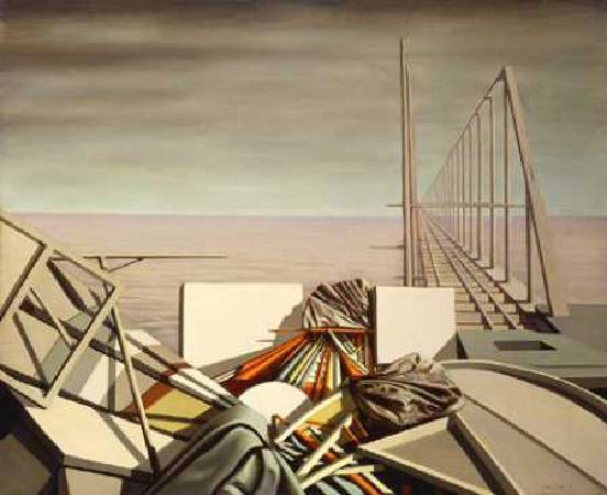 Kay Sage,《Unusual Thursday》,1951。圖/取自wikiart。