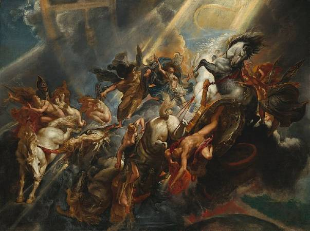 Peter Paul Rubens,《The Fall of Phaeton》,1605。圖/取自Wikiart。