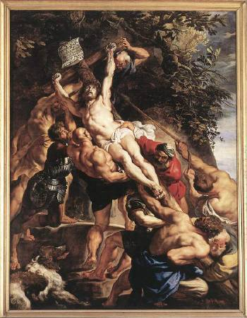 Peter Paul Rubens,《The Elevation of the Cross》,1610-1611。圖/取自Wikiart。