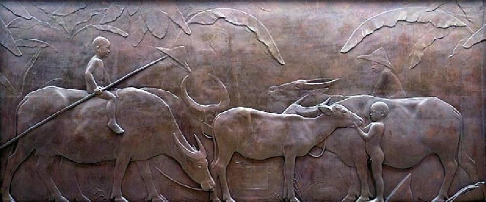 黃土水,《水牛群像》,1930。圖/取自wikimedia