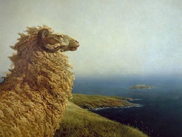 Jamie Wyeth,《The Islander》,1975。