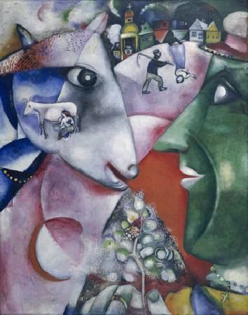 Marc Chagall,《I and the Village》,1911。