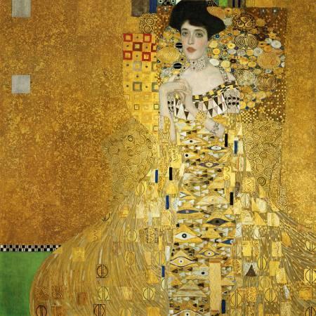 Gustav Klimt,《portrait of adele bloch bauer i》(艾蒂兒肖像一號),1907。圖/取自Wikipedia。