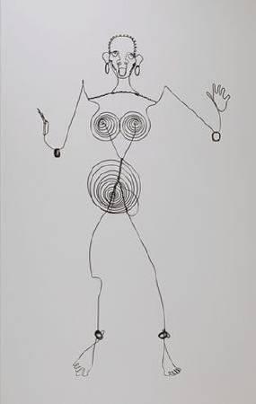 Alexander Calder,《josephine baker iii》,1927。圖/取自Wikiart。