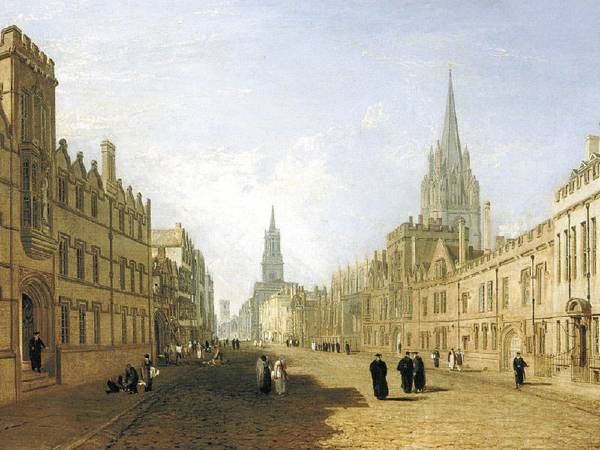 透納《牛津高街》。圖/取自Oxford History。