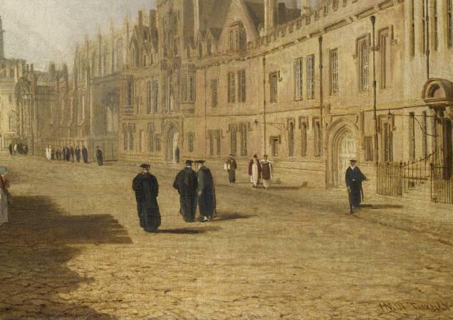 透納《牛津高街》細節。圖/取自The History Blog。
