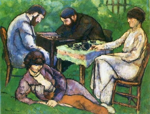 杜象,《西洋棋比賽》,1910年。