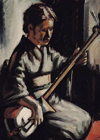 何德來,《古琴演奏》,1949年。