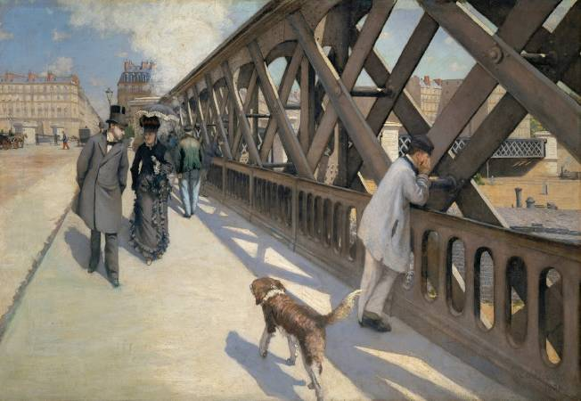 Gustave Caillebotte,《The Europe Bridge》,1876。