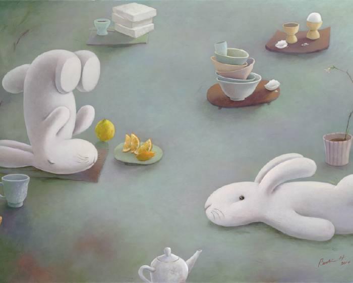 誠品畫廊【黃本蕊個展 】餐桌上的枯山水