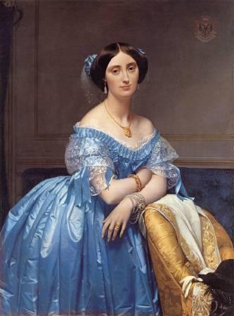 安格爾,《布羅格麗公主》,1853。