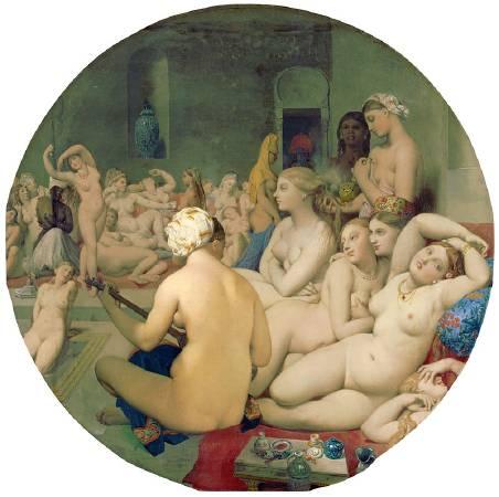 安格爾,《土耳其浴女》,1862。