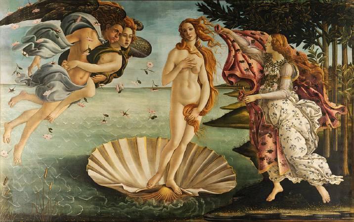 波提切利,《維納斯的誕生》,1486。圖/取自Wikipedia。