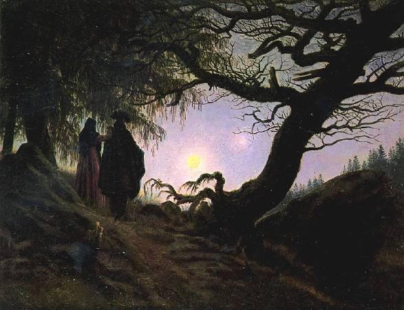 佛列德利赫,《凝月》,1830–35。