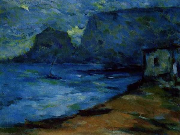 陳德旺,《野柳海邊》,1975。