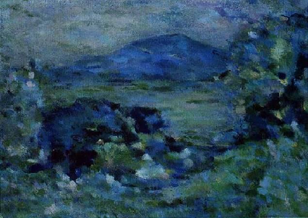 陳德旺,《觀音山遠眺》,1970。
