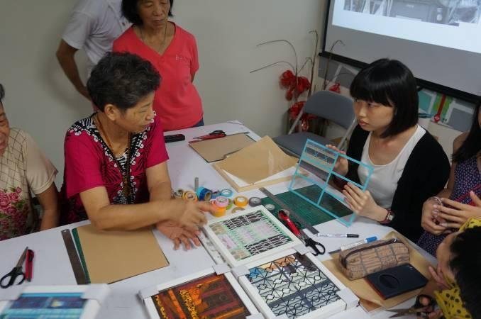 紙膠帶窗花工作坊。圖/台北當代藝術館提供。
