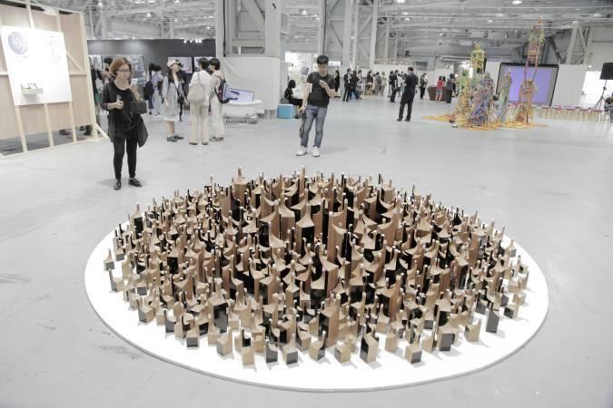 藝術家博覽會展場。 圖/非池中藝術網攝。