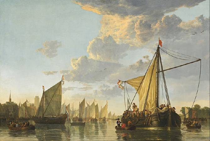 Aelbert Cuyp,《The Maas at Dordrecht》,1650。