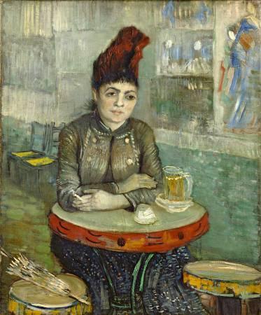 梵谷《阿戈斯蒂娜•塞加托里坐在鈴鼓咖啡館》。圖/取自Wikipedia。