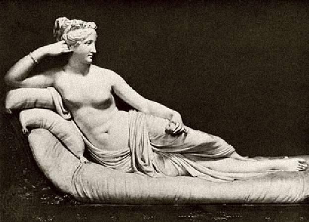 安東尼奧•卡諾瓦《裝扮成維納斯的寶琳娜‧波格塞》。