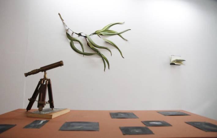 李若玫,《一些關於藍的研究》。圖/非池中藝術網攝。
