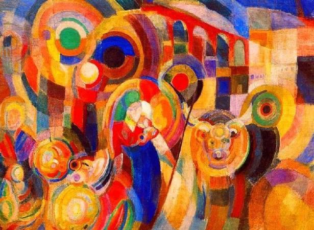 索妮亞.德洛內《Market at Minho》。圖/取自Wiki Art。