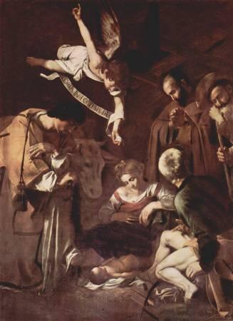 卡拉瓦喬《聖弗朗西斯和聖勞倫斯誕生》。圖/取自Wikipedia。