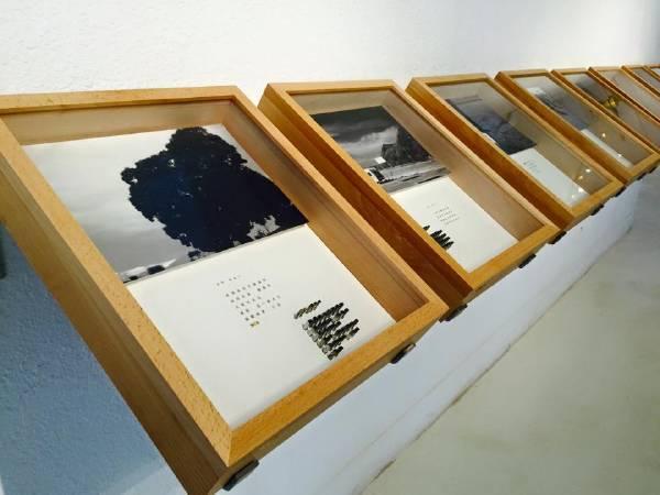 陳文祺《偽日記 京都系列貳》2015 影像裝置 45x52x10cmx9