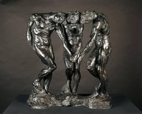 羅丹《Les Trois Ombres》。