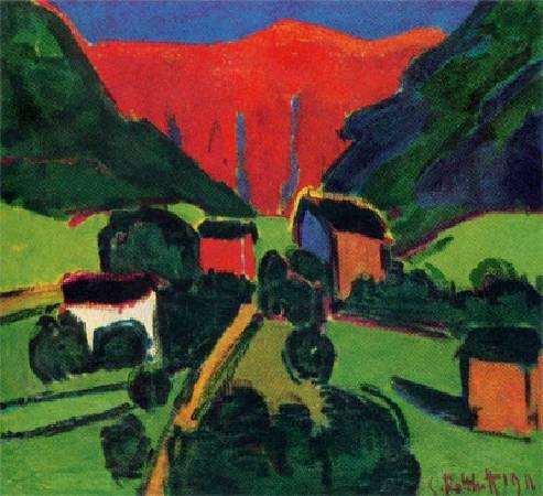 施密特‧羅特盧夫,《挪威風景》,1911年。