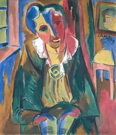 施密特‧羅特盧夫,《羅莎.沙畢爾肖像》,1919年。