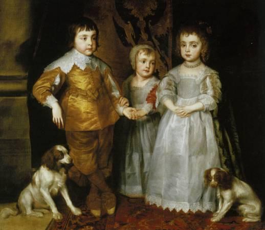 范戴克,《查理一世的三個孩子》,1635。圖取自Wikiart。