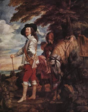 范戴克,《英王查理一世狩獵》,1635。圖取自Wikipedia。