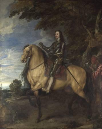 范戴克,《騎馬的查理一世》,1637-1638。圖取自Wikipedia。