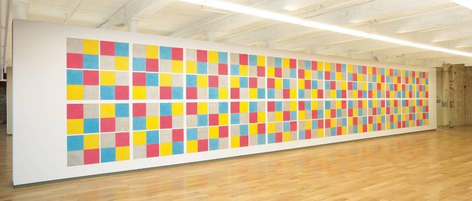 勒維特《Wall Drawing 413》。圖取自The Botín Foundation。