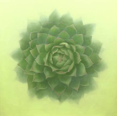 賴冠霖-觀音蓮-油畫- 90x90cm-2014