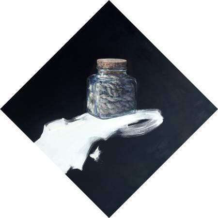 蘇頤涵-活著之壓抑-油畫-90x90cm-2014