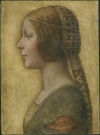 達文西《美麗公主》。圖/取自Wikipedia。