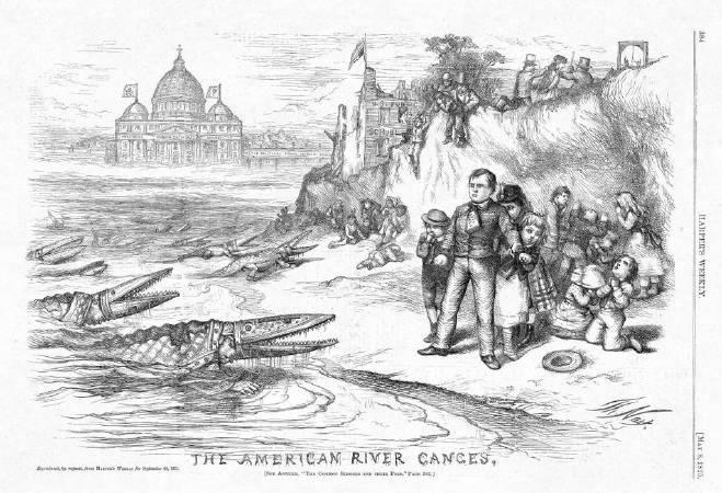 托馬斯•納斯特,《The American River Ganges》,1871。