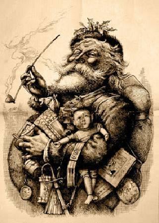 托馬斯•納斯特,《聖誕老人》,1881。