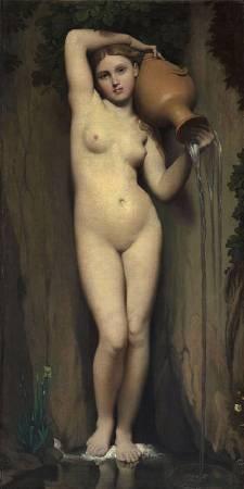 安格爾,《泉》,1856。