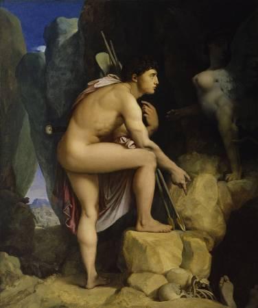 安格爾,《伊底帕斯與斯芬克斯》,1864。