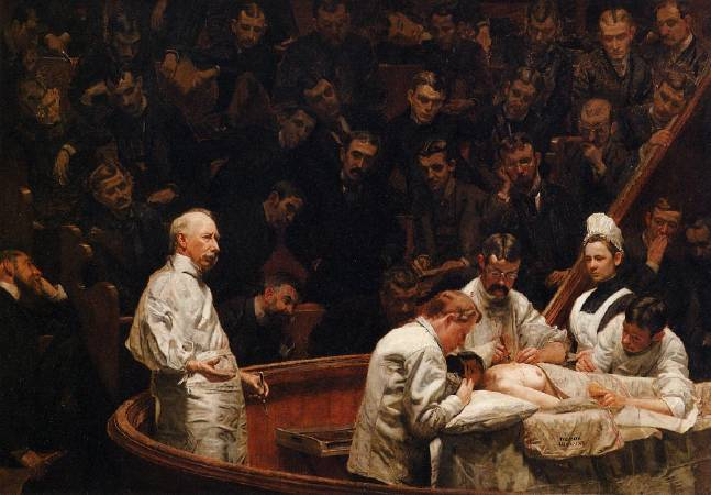 Thomas Eakins,《The Agnew Clinic》,1889。