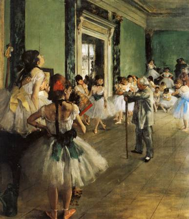 Edgar Degas,《The Dance Class》,1873-1875。